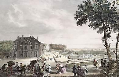 Le château de Sceaux, steel engraving, 1838, by E. Rouargue after A. Rouargue. Photo courtesy of Marc Dechow, Antique Prints, Maps and Rare Books, Hamburg, Germany