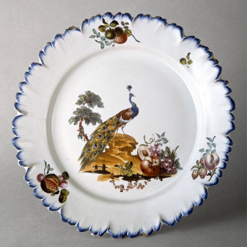 Duvivier-decorated Sceaux faience plate