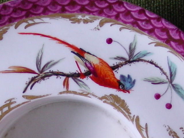 Detail of a Gerverot-decorated Höchst saucer