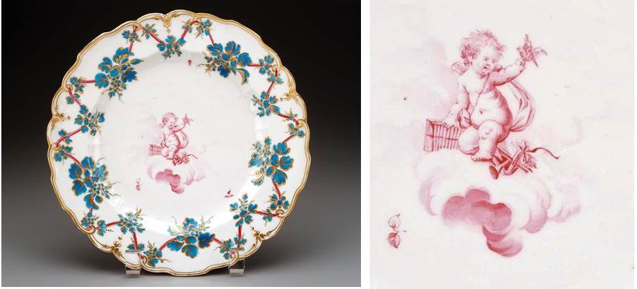 Boston Museum of Fine Arts –  Derby, Sceaux, Loosdrecht and New Hall porcelain with Duvivier decoration