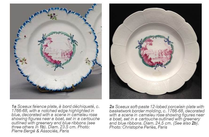 Sceaux Rarities in Faience and Porcelain – a Near Match